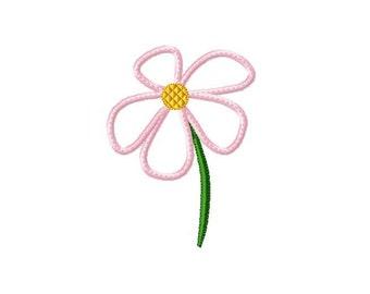 Applique Machine Embroidery Design Baby Daisy