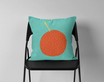 Orange Cushion - Nursery Cushion Cover - Throw Pillow - Nursery Decor - Soft Furnishings - Cushion Covers - Housewarming Gift - Home Decor