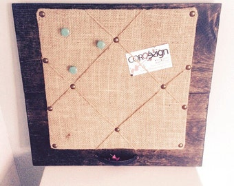 Shabby chic bulletin board coark board