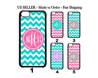 Custom Personalized Chevron monogram Case Cover iPhone X 8 7 6 Plus 5 SE 5c 4 Samsung Galaxy S8 S7 S6 S5 S4 Note 8 5 4 3  iPod Touch 4 5 6