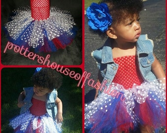 Baby or toddler girl three layer tutu dress with matching flower or headband!