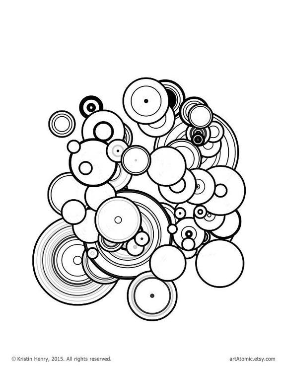 Downloadable Adult Coloring Page: Generative Particles. Math
