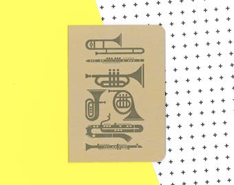 Brass instruments notebook