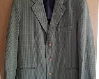 Summertime sport coat vintage mens seersucker sports jacket The Browser Sunset House California 42 L Striped seersucker country club jacket O1zvcno7A