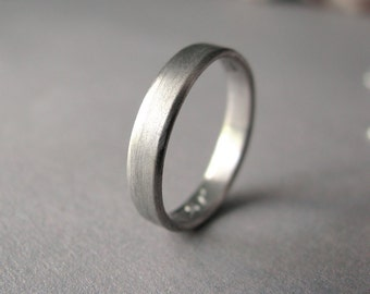 Palladium - 3mm wide wedding band