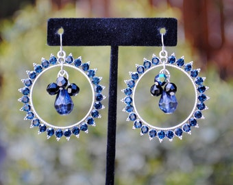 Chicos Vintage 80s / Catching the Light / Twilight Blue Hoop Earrings