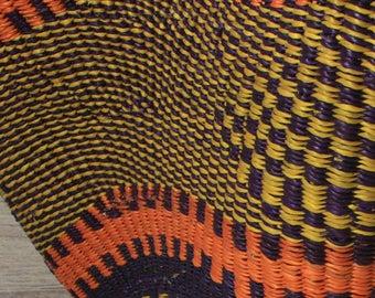 Wave Basket - Orange & Purple