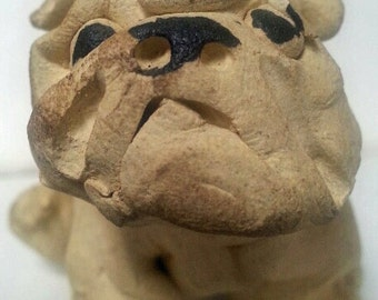 English Bulldog (clay?) figurine