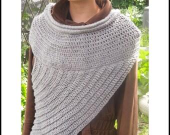 Huntress Cowl Crochet Pattern, Katniss Cowl Pattern, Katniss Wrap Pattern, Katniss Wrap, Katniss Scarf, Hunger Games Cowl, Katniss Cowl