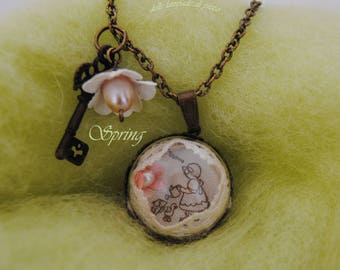 Spring Long necklace with Pendant