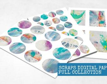 Journal Paper Kit | Journal Starter Kit | Journal Kit | Journaling Kit | Art Journal Kit | Art Journal Pages | Ephemera Pack Travel Journal