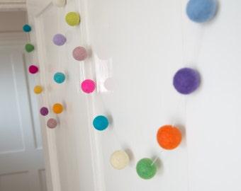 Felt Ball Garland - Hanging Decoration