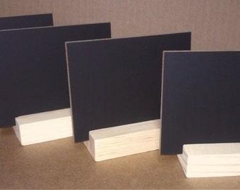 Mini Chalkboards & Wood Stand 3x4, Set of 4