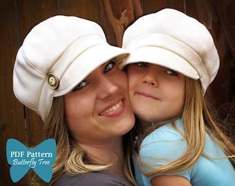 Newsboy style hat PDF SEWING pattern Adult/child combo sale-10.00