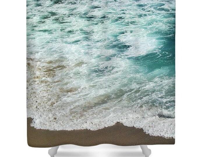 """Shower Curtain """"Ocean Meets Beach"""""""