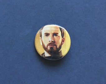 Steve Rogers / Captain America Infinity War Upcyled Pinback Button