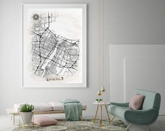 Green bay map art Etsy