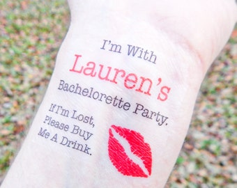 Bachelorette Favor - 15 Bachelorette Tattoos - Bachelorette Party Temporary Tattoos - If I'm Lost, Please Buy Me A Drink
