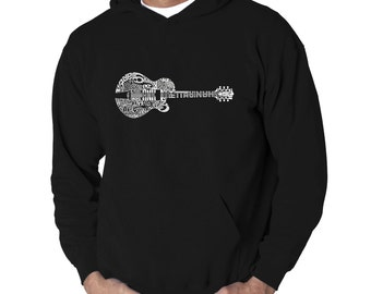 Men's Hooded Sweatshirt - Country Guitar Created using the some of Country Music's Most Legendary Names.