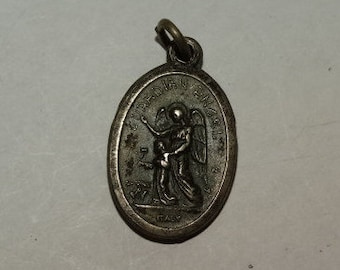 Vintage Guardian Angel, Medal, Medallion, Religious Medal, Son of God, Made in Italy