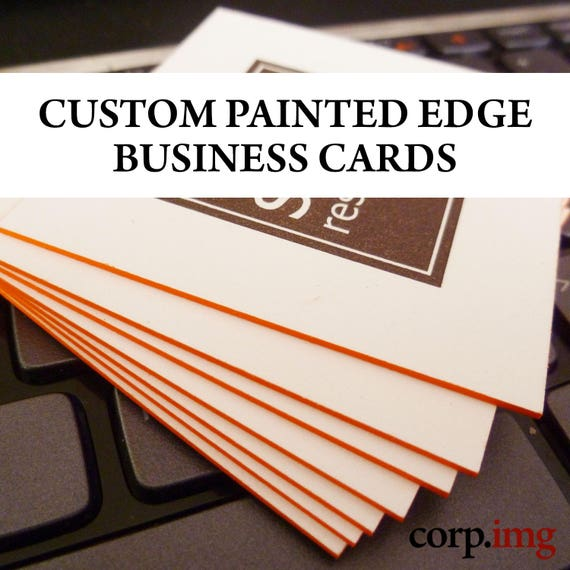 Custom painted edge business cards 32 point business card like this item colourmoves Gallery