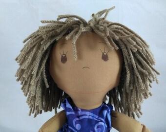 Handmade Soft or Plush Rag Doll, Shower or Girls Birthday gift, Black doll, Rag doll, Wedding Dolls, Custom Doll, Plush Doll, Stuffed Doll