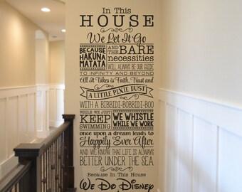 We Do Disney / Disney wall decal quote wall decal vinyl wall sticker home decor Walt Disney vinyl lettering BM544