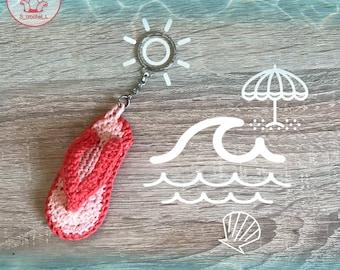 Keychain Ciabatta Flip-flop crochet-flip crochet-floppies-handmade crochet hook-summer-sea-collection-Summer collection