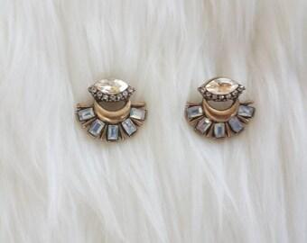 Crystal earrings, dangle and drop earrings, blue earrings , statement earrings, statement jewelry