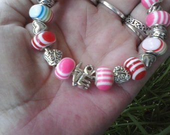 Candy Kisses, for lovers, Euro style bracelet