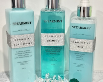 SFH Nourishing Spearmint Hair Care Products Shampoo/Conditioner and Conditioning Mist