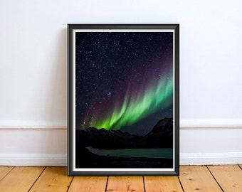 Northern Lights Aro,Art,Photo,Digital,Download,Decor,Home,Office,Art,Photo, Wild, Cute,Baby Shower,Purple,Green,Turquoise