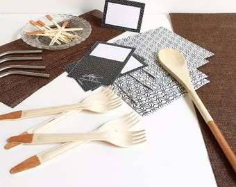 silver gray modern table decoration