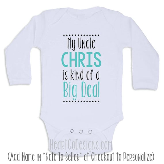 Personalized baby clothes my uncle is short or personalized baby clothes my uncle is short or long sleeve baby onesies for boys or girls baby shower gifts baby clothes d36 negle Choice Image