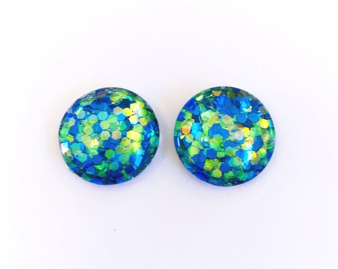 The 'Calypso' Glass Glitter Earring Studs