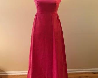 1960's Priscella of Boston gown/ velvet gown