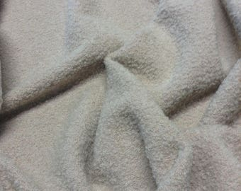 Wool Boucle Fabric in a taupe color