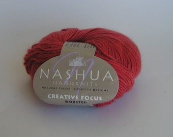 Yarn SALE NASHUA Handknits Creative Focus Worsted Alpaca Wool Color SALMON Lot 61389 Apprx 100 g 220 yds 75 per cent wool 25 per cent alpaca
