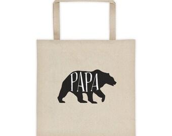 Christmas Gift Papa Bear Tote Bag   Papa Bear bag   Matching Tote bag   Bear Bag   New Dad Gift   Mama Bear   Family matching   Baby  