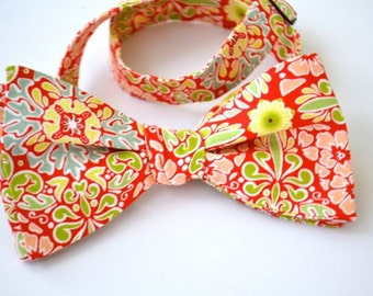 Self Tie Bowtie-  Floral and Damask- Enough in Stock For Entire Wedding Party