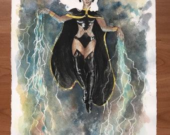 Storm Original Watercolor Painting