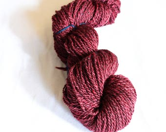Handspun Bulky weight yarn, Merino wool/Bamboo blend