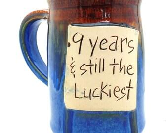Anniversary mug, couples mug,  mugs with sayings  Handmade pottery  ceramics and pottery