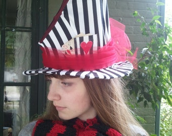 Mad Hatter Hat Mad Hatter Costume Top hat Tim Burton Johnny Depp Alice in Wonderland  Costume Through the Looking Glass Red Queen of Hearts