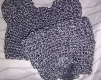 Crochet newborn bear hat and matching diaper cover