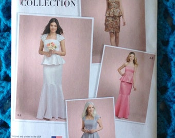 Simplicity 8164, Misses Special Occasion Dress, Bridal Collection, Two Piece Dress, Skirt Options, New uncut sewing pattern
