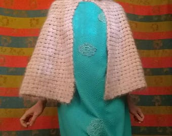 1950s Pink Wool Cape