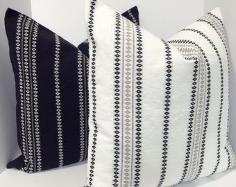 Black and white striped pillow cover , pillow cover set,black and white pillow covers ,