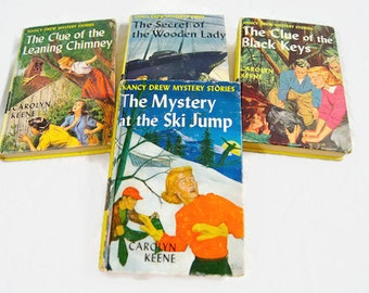 Vintage Nancy Drew Mystery Books  Lot of 4  Carolyn Keene Hardcover  #26 -29 / All With 25 Chapters