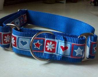 """Oliver's Hearts & Stars 1.5"""" Martingale Collar"""